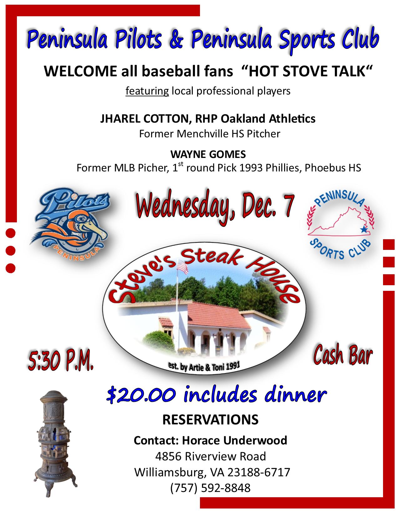 Dec 7 Hot Stove Talk